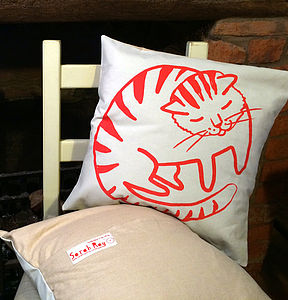 'Cat' Cushion - patterned cushions