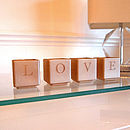 Love Tealight Candle Holder Set Of Four