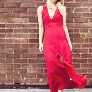 Crêpe De Chine Silk Gown - bridesmaid fashion