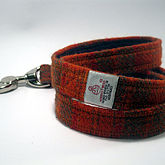 Check Harris Tweed Dog Lead - pets