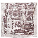 Splash Print Silk Satin Square Scarf