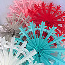Coloured Luxe Paper Snowflakes
