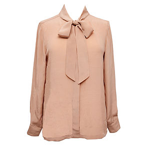 Juliet Crêpe De Chine Silk Pussy Bow Blouse