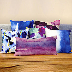 Linen Watercolour Cushion