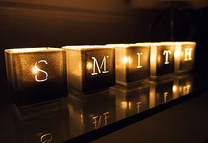 Alphabet Tealight Candle Holders - lights & candles