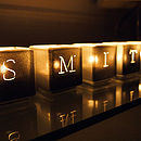 Alphabet Tealight Candle Holders