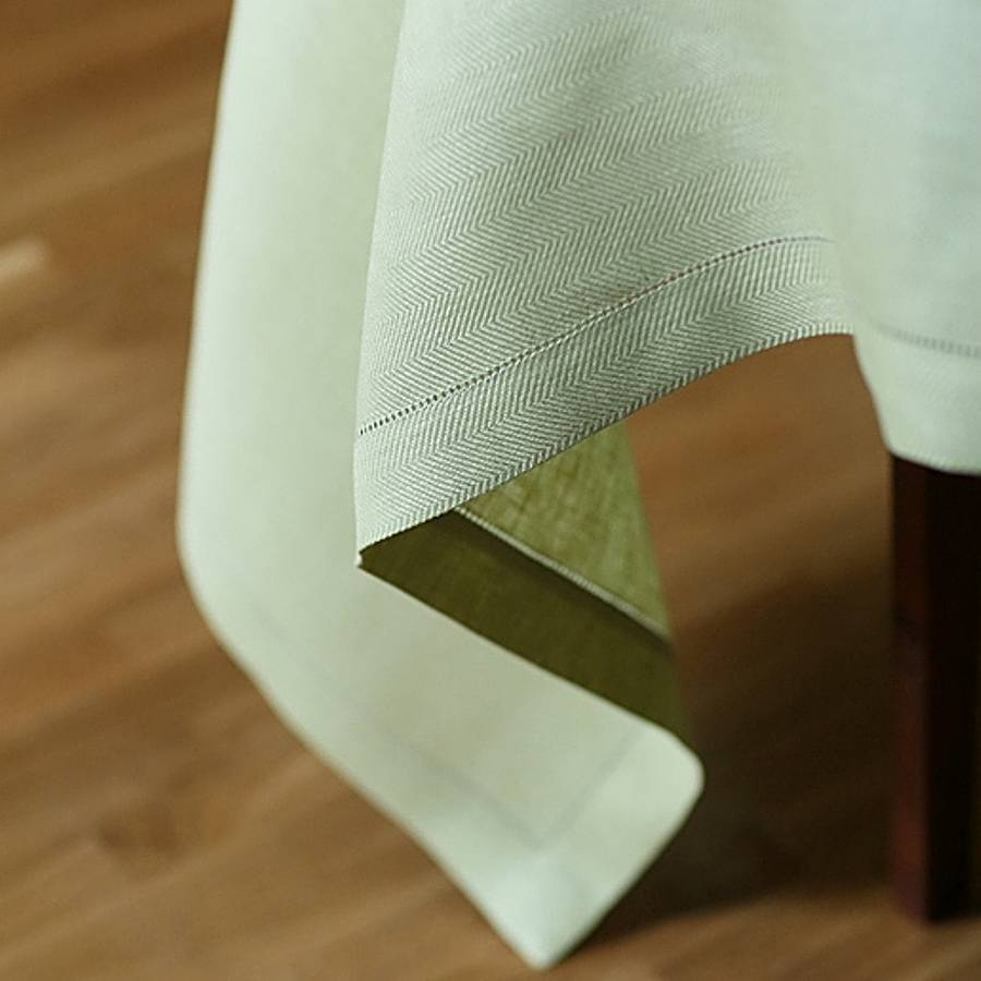 Tablecloth Linen Light Green Emilia By Linenme