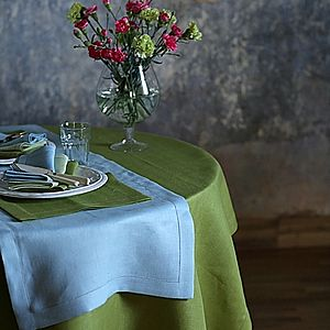 Tablecloth Linen Emilia Rainforest Green - home
