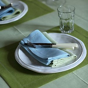Linen Placemat Emilia Rainforest Green