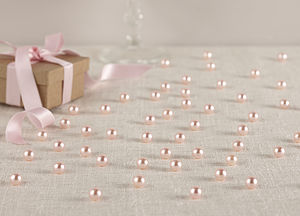 Baby Pink Table Pearls Confetti Wedding Decor