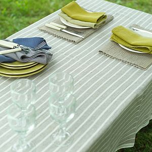 Tablecloth Natural Linen Brittany - bed, bath & table linen