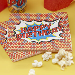 Happy Birthday Superhero Pop Art Napkins - children's party ideas