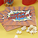Happy Birthday Superhero Pop Art Napkins