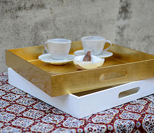 Lacquer Square Breakfast Tray - trays