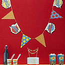 Happy Birthday Superhero Pop Party Bunting