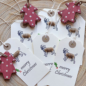 Christmas Border Terrier Gift Tags - cards & wrap