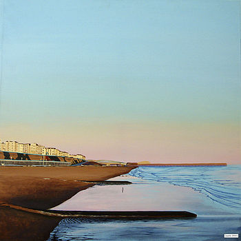 Original Tidal Sunset Painting Kemptown light By Jacqueline Hammond for Smart Deco Style