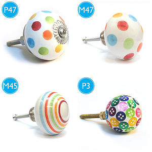 Colourful Childrens Bedroom Cupboard Door Knobs - shop by price