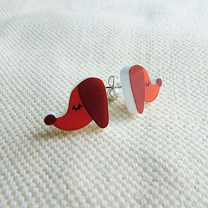 Sausage Dog Dachshund Acrylic Stud Earrings - children's jewellery