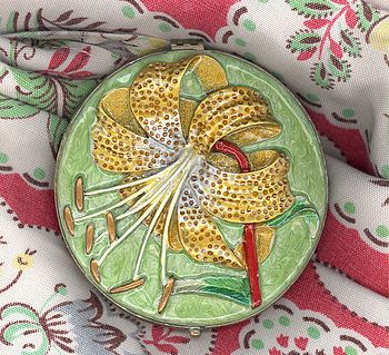Hand Painted Compact Mirror