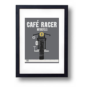 Cafe Racer Graphic Print