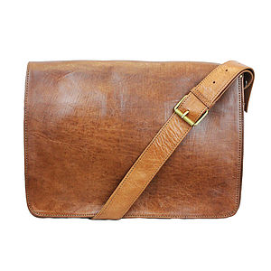 Victor Leather Messenger Bag