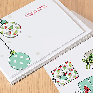 Christmas Thank You Cards - christmas card packs