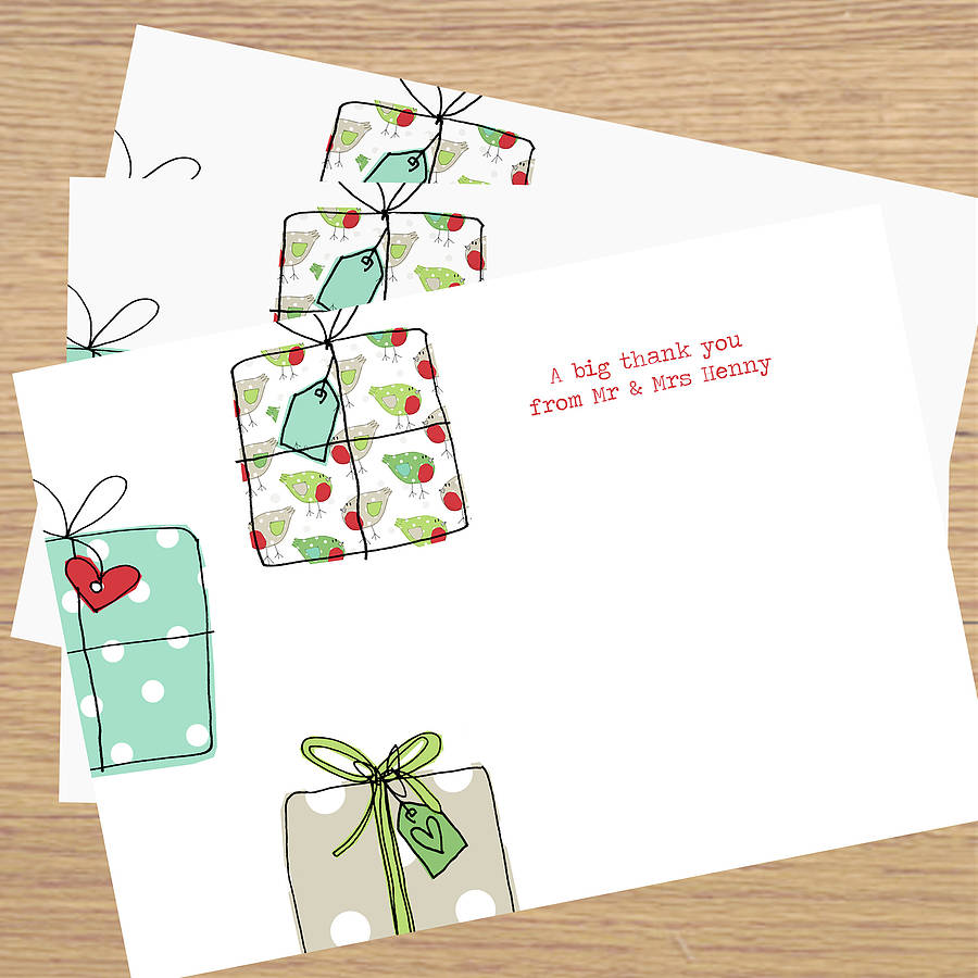 Christmas Thank You Cards By Lucy Sheeran Notonthehighstreet Com