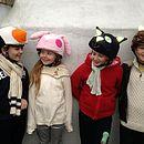 Child's Cat Hi Vis Helmet Cover