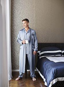 100% Silk Dressing Gown   Men's