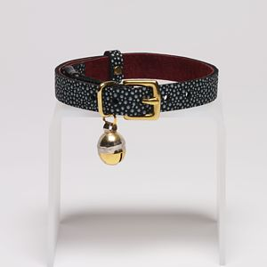 Speckled Leather Cat Collar With Safety Catch - cats