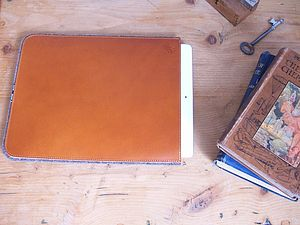 Personalised Leather And Felt Case For iPad