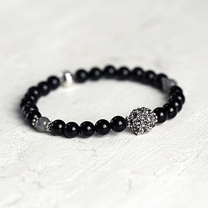 Pave And Black Onyx Bracelet
