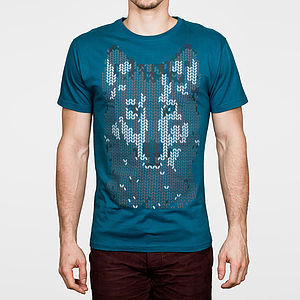 Mosaic Wolf T Shirt - stocking fillers