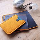 Bright Felt And Leather Case For iPod