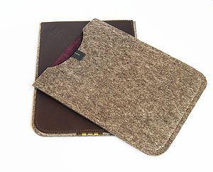 Leather And Felt Case For iPod Or iPhone - men's sale
