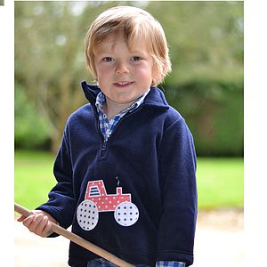 Tractor Fleece Jumper For Boys