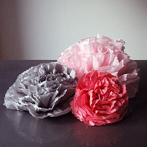 Custom Handmade Pom Paper Flowers - decorative accessories