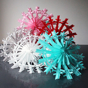 Coloured Luxe Paper Snowflakes - home sale