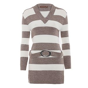 10% Off Striped Knitted Jumper Was £30