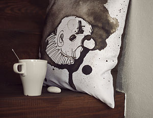 Illustrated Clown Cushion
