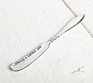 Solid Silver Personalised Butter Knife - dining room
