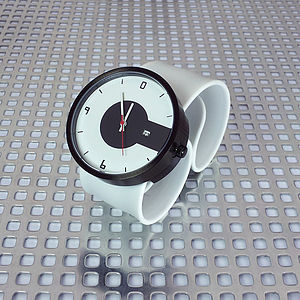 Silicone Strap Super Steel Black Watch - watches
