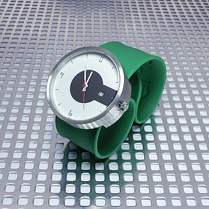 Silicone Strap Super Steel Watch