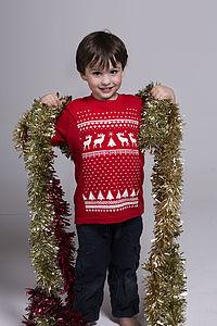 Childrens Glow In The Dark Reindeer Tshirt - christmas clothing & accessories