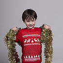 Childrens Glow In The Dark Reindeer Tshirt