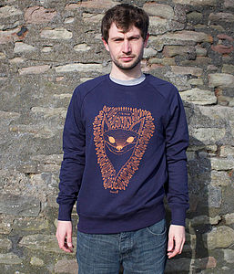 Frankie The Fox Unisex Sweater - men's fashion