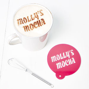 Personalised Coffee Stencil For Her - kitchen accessories