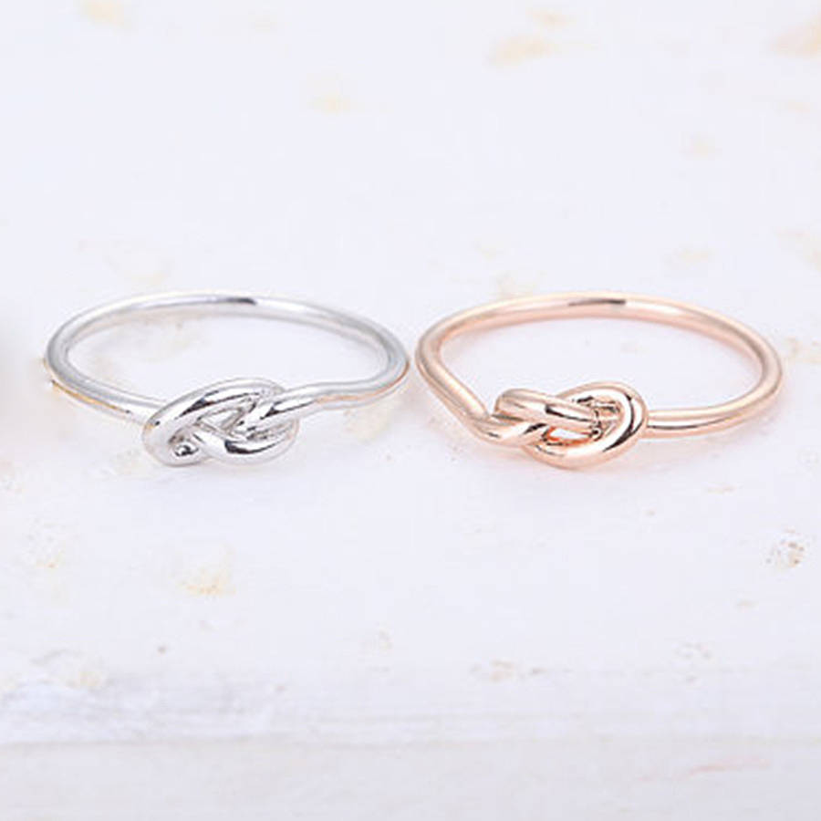 infinity knot ring by junk jewels notonthehighstreetcom