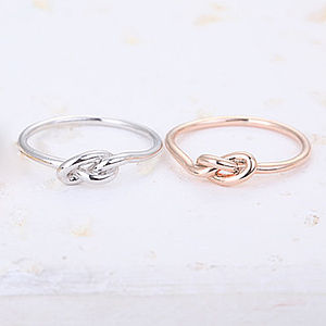 Infinity Knot Ring - women's jewellery